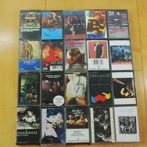 Cassette Tapes 1980's/90's 20 Tape Bundle